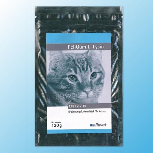 alfavet FeliGum L-Lysin, 120 g