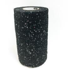 PowerFlex-Binden Glitter schwarz, 10 cm x 4,5 m